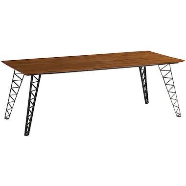 Table à manger bois recyclé pieds épingles 220 cm BARBADE