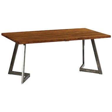 Table à manger bois recyclé teck pied accent 180 cm CLEVELAND