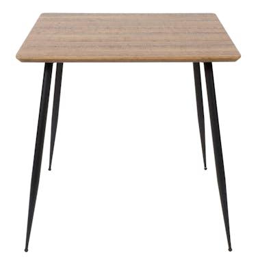 Table a manger carree pieds metal de style contemporain