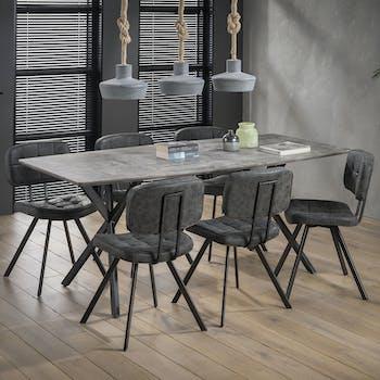 Table à manger contemporaine effet béton 190 cm HELSINKI