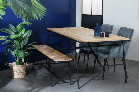 Table à manger en bois de manguier 200 cm CAIRE