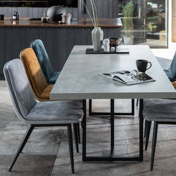 Table à manger extensible design 180-230 cm KINGSTON