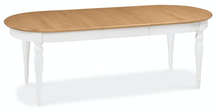 Table à manger extensible blanche 181-231 cm PORTSMOUTH
