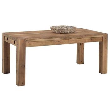 Table de repas rectangulaire extensible en bois de style campagne