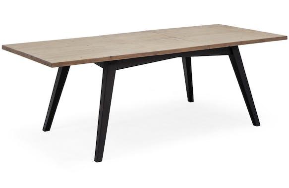 Table de repas extensible bois recycle FSC style campagne contemporaine