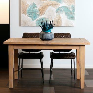 Table de repas extensible bois recycle FSC de style campagne