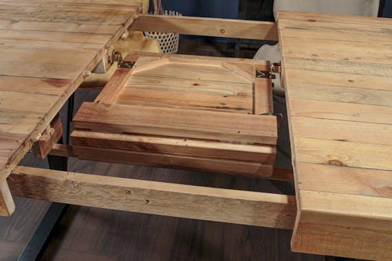 Table à manger extensible en bois recyclé 140-180 cm CANBERRA