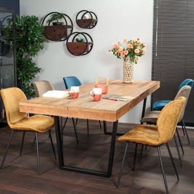 Table à manger extensible en bois recyclé 180-240 cm CANBERRA