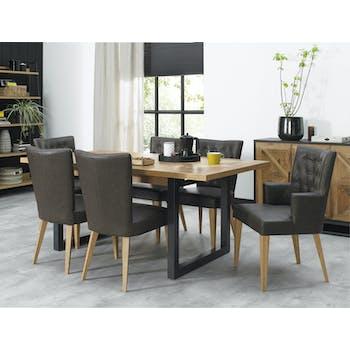 Table à manger extensible en chêne 190-240 AUSTIN