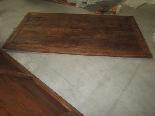 Table à manger industrielle bois recyclé brut KOURSK