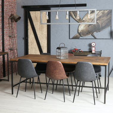 Table à manger marqueterie 200 cm VARSOVIE