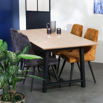 Table à manger moderne pieds trapèze 180 cm AIX