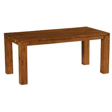 Table à manger moderne teck massif brossé 180 cm RIO