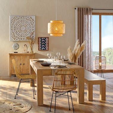 Table à manger rectangulaire bois de manguier 200 cm MYSORE