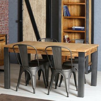 Table à manger rectangulaire bois de mindi 150 cm BORNEO