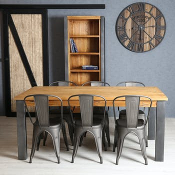 Table à manger rectangulaire bois de mindi 180 cm BORNEO
