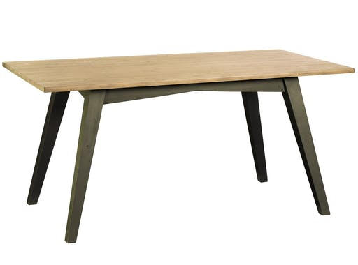 Table de repas rectangulaire bois recycle FSC style campagne moderne