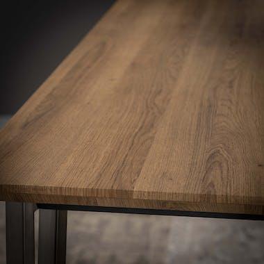 Table de repas rectangulaire pieds metal de style contemporain