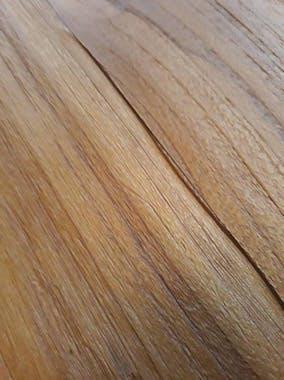 Table de repas rectangulaire en bois pieds metal