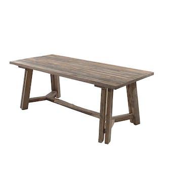 Table de repas rectangulaire bois massif recycle style exotique
