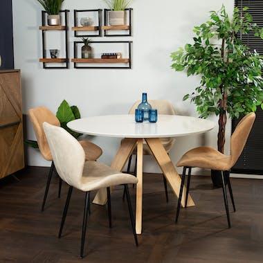 Table à manger ronde blanche D 120 cm GOTEBORG