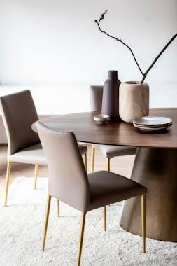 Table a manger ronde bois manguier style vintage