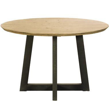Table a manger ronde bois recycle FSC style campagne moderne
