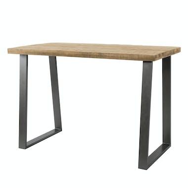Table haute mange debout rectangulaire en bois massif style industriel