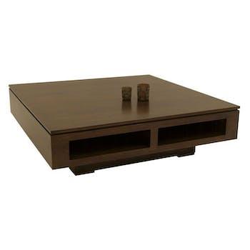 Table basse 1 niche hévéa 100X100cm HELENA