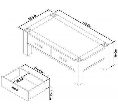 Table basse avec rangement ALTA