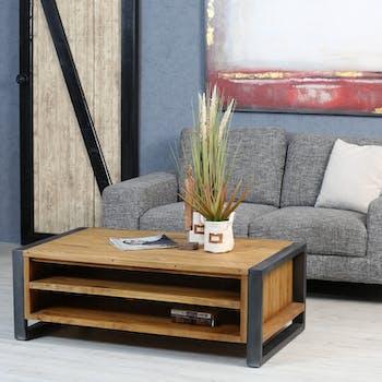 Table basse avec rangement bois de mindi BORNEO