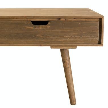 Table basse avec tiroirs en bois de sapin LIMA