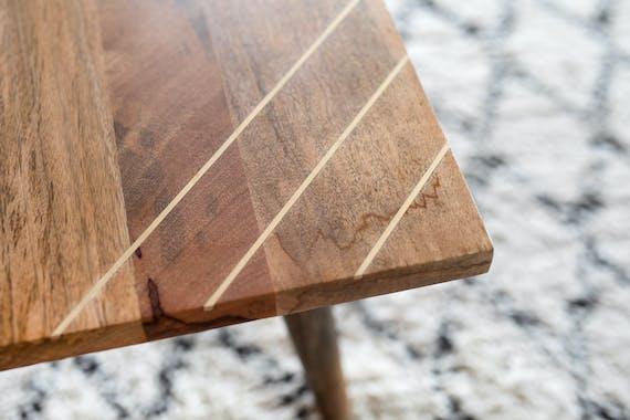 Table basse bois et laiton BROADWAY