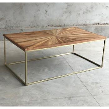 Table basse bois recyclé métal TORANO