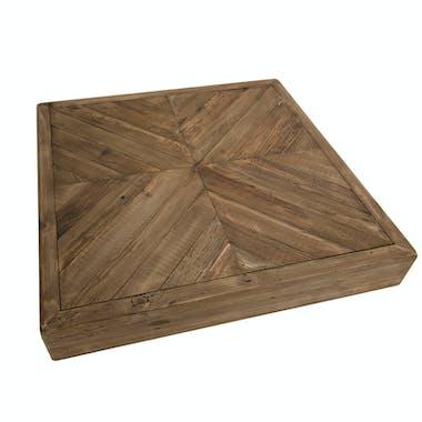 Table basse carrée en bois de pin recyclé DENVER