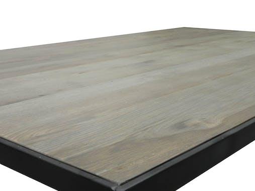 Table basse chêne massif métal SOOMAA réf 30020860