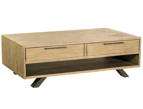 Table basse contemporaine bois recyclé VITTORIA