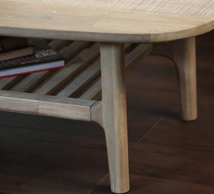 Table basse contemporaine double plateau HAMILTON