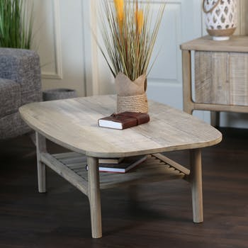 Table basse contemporaine double plateau HAMILTON