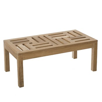 Table basse de jardin en Teck brut massif 100cm SUMMER