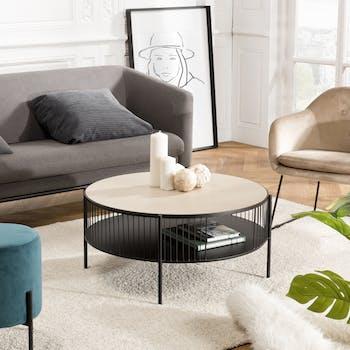 Table basse double plateau design BANGALORE