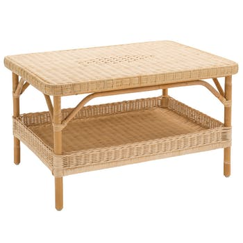 Table basse double plateau rotin naturel NANTUCKET KOK