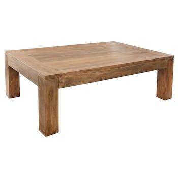 Table basse en bois de style exotique