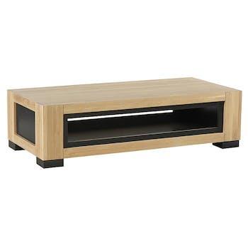 Table basse rectangulaire en bois clair de style contemporain