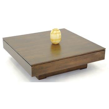 Table basse hévéa 100X100cm HELENA