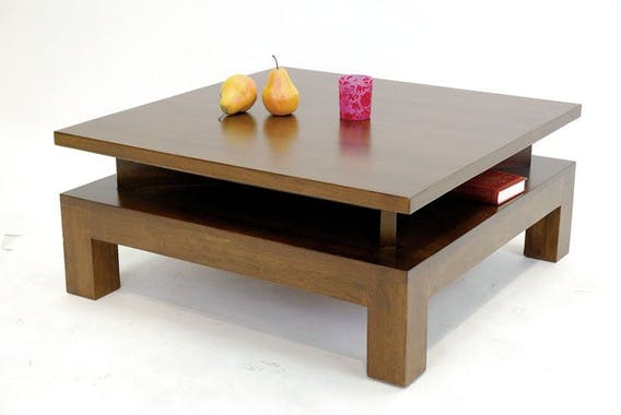 Table basse hévéa 80CM HELENA
