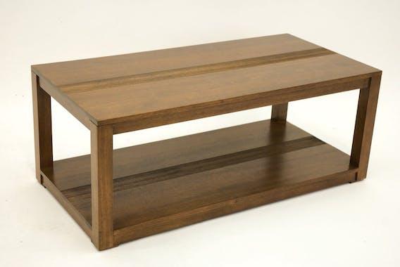 Table basse hévéa double plateau 100x50cm GALA