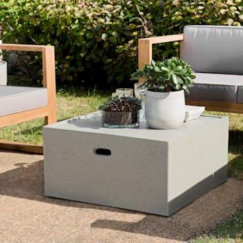 Table basse jardin béton forme carrée SUMMER