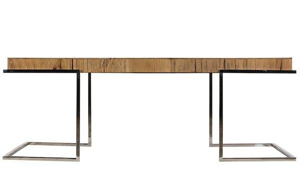 Table basse moderne chêne acier RIVERSIDE