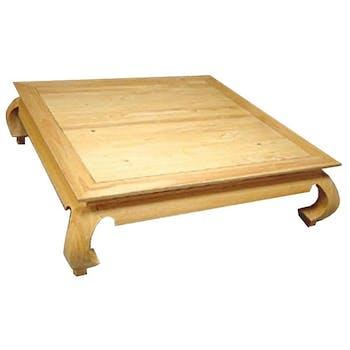 Table basse Opium hévéa 120x120x35cm MAORI